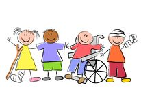 Group of Sick Kids Pediatrics Royalty Free Stock Photos