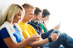Group of students on a break Royalty Free Stock Photography