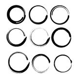 Grunge circles for black paint. Royalty Free Stock Image