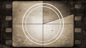Grunge film frame background with vintage movie countdown Royalty Free Stock Photography