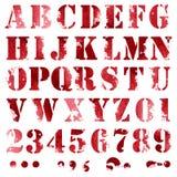 Grunge full alphabet Stock Photo