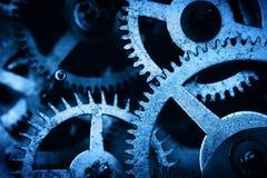 Grunge gear, cog wheels background. Industrial science, clockwork, technology. Stock Photography