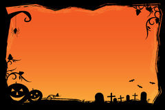 Grunge Halloween frame Royalty Free Stock Image