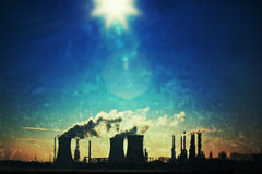 Grunge industrial landscape Stock Photo
