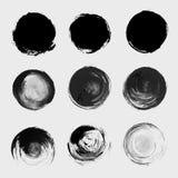 Grunge paint circle vector element set Stock Photo