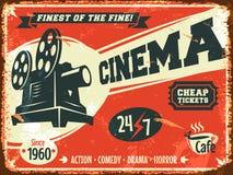 Grunge retro cinema poster Royalty Free Stock Photo