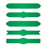 Grupo de beiras verdes Fotos de Stock