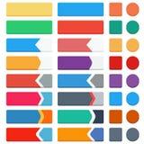Grupo de botões lisos Imagem de Stock Royalty Free