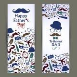 Grupo do dia de pais de bandeiras Imagem de Stock Royalty Free