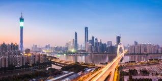 Guangzhou panorama in nightfall Royalty Free Stock Photography