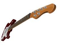 Guitare électrique rouge Photographie stock libre de droits