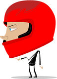 Guy wearing a motor helmet Royalty Free Stock Images
