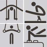 Gymnastics Artistic icons Stock Photography