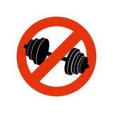 Hören Sie auf zu bodybuilden Verbotsport Verbieten des Zeichens für Eignung Stockbilder