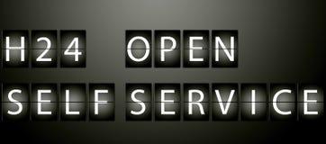 H24 open self service Stock Photo