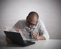Hacker analyzing software Stock Image
