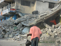 Haiti destroyed by earthquake Stock Photo
