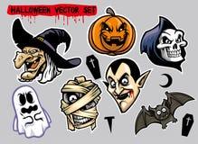 Halloween character set Royalty Free Stock Photo
