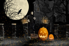 Halloween Ghoul Haunted House Royalty Free Stock Photography