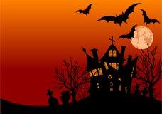 Halloween house flyer Stock Image