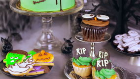 Halloween party stock video footage