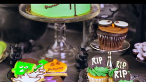 Halloween party stock footage