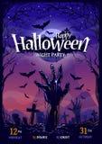 Halloween Poster Design Stock Photography