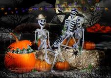 Halloween-Skelettenpartij Stock Foto