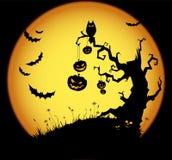Halloween-Szene Lizenzfreie Stockbilder