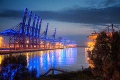 Hamburg, Container Terminal at Blue Port Royalty Free Stock Photos