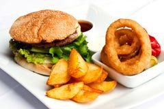 Hamburger meal Royalty Free Stock Image