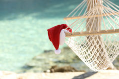 Hammock on a tropical beach resort in christmas holidays Stock Photography