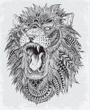 Hand gezeichneter abstrakter Lion Vector Illustration Stockbild