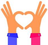 Hand heart Stock Photo