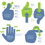 Hand Info-Graphic Royalty Free Stock Photo