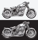 Hand Inked Motorcycle Stock Photography