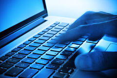 Hand Keyboard Computer Business Royalty Free Stock Photos