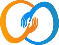 Hand logo Royalty Free Stock Photos