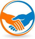 Hand shake logo Royalty Free Stock Image