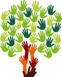 Hand tree logo Stock Image