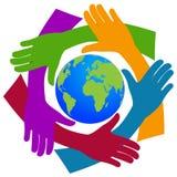 Hands around the world Stock Photography