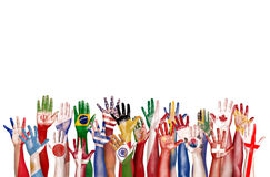 Hands Flag Symbol Diverse Diversity Ethnic Ethnicity Unity Conce Stock Photography
