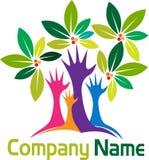 Hands tree logo Royalty Free Stock Photo