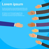 Handshake One Person Choose Partners Business Royalty Free Stock Photography