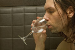 Handsome Man Drinking Wine Stock Photos