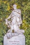 Hans Makart bust in Stadtpark, Vienna Royalty Free Stock Photo