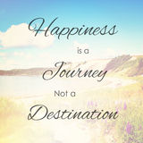 Happiness is journey not destination Stock Image