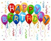 Happy Birthday Balloons Banner Stock Photos