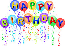 Happy Birthday Balloons/eps Royalty Free Stock Images