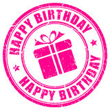 Happy birthday stamp Royalty Free Stock Photo